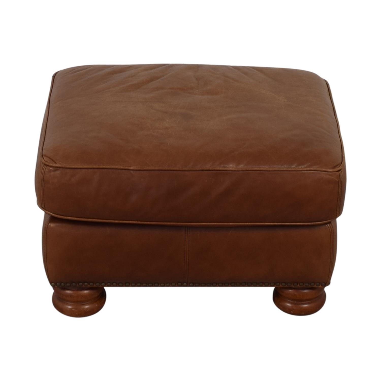 buy Thomasville Brown Leather Ottoman Thomasville Ottomans