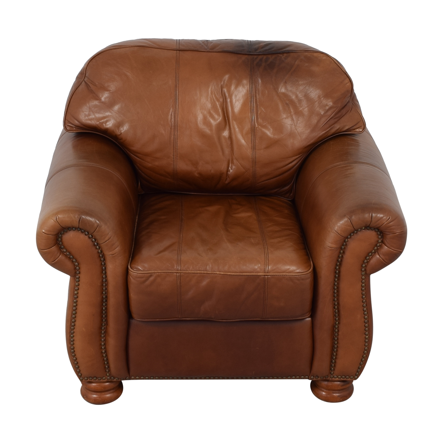 Thomasville Leather Sofa Chair / Accent Chairs