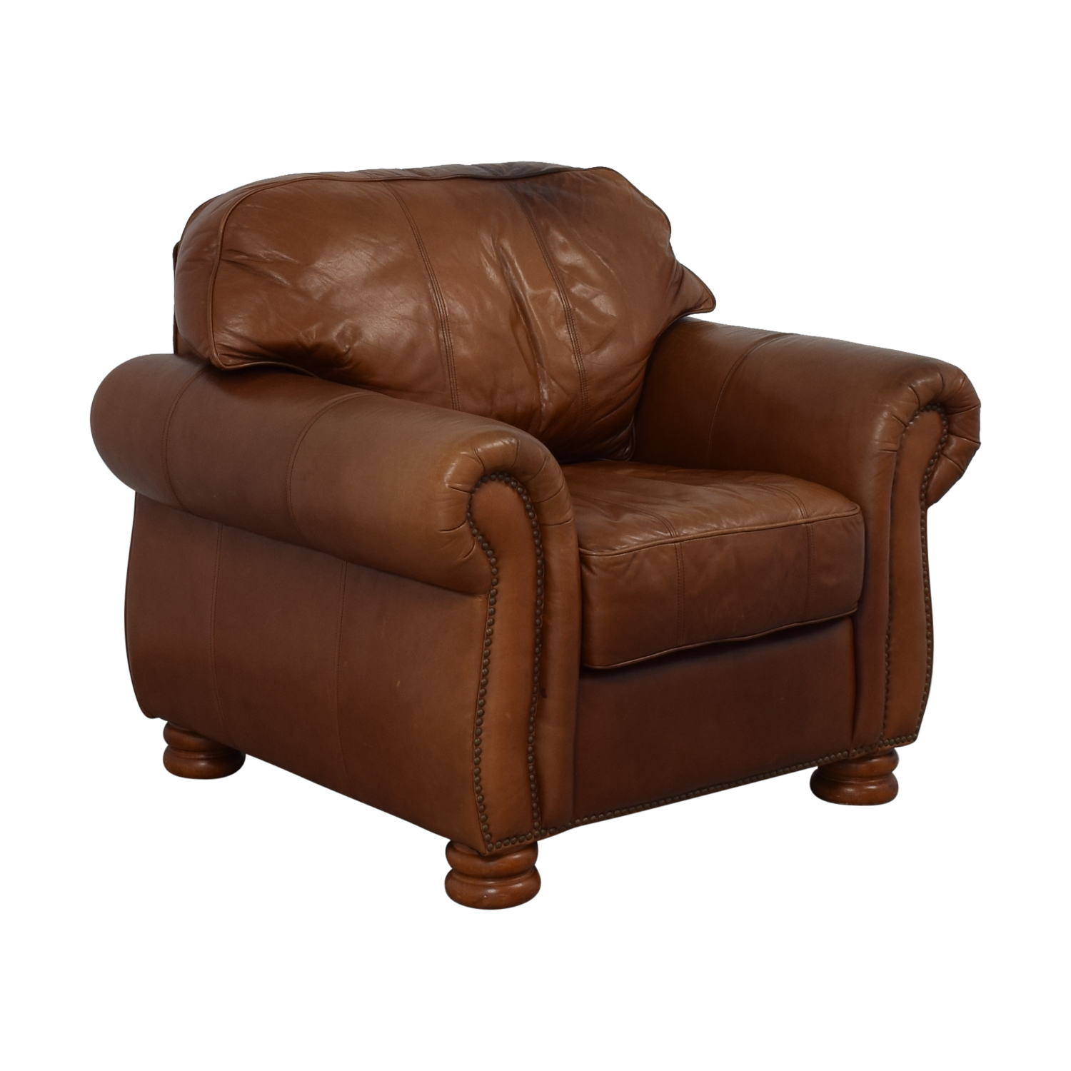 Thomasville Thomasville Leather Sofa Chair Accent Chairs