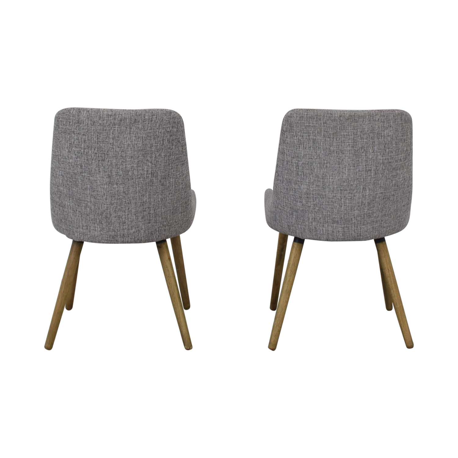 West Elm West Elm Mid-Century Upholstered Dining Chairs second hand