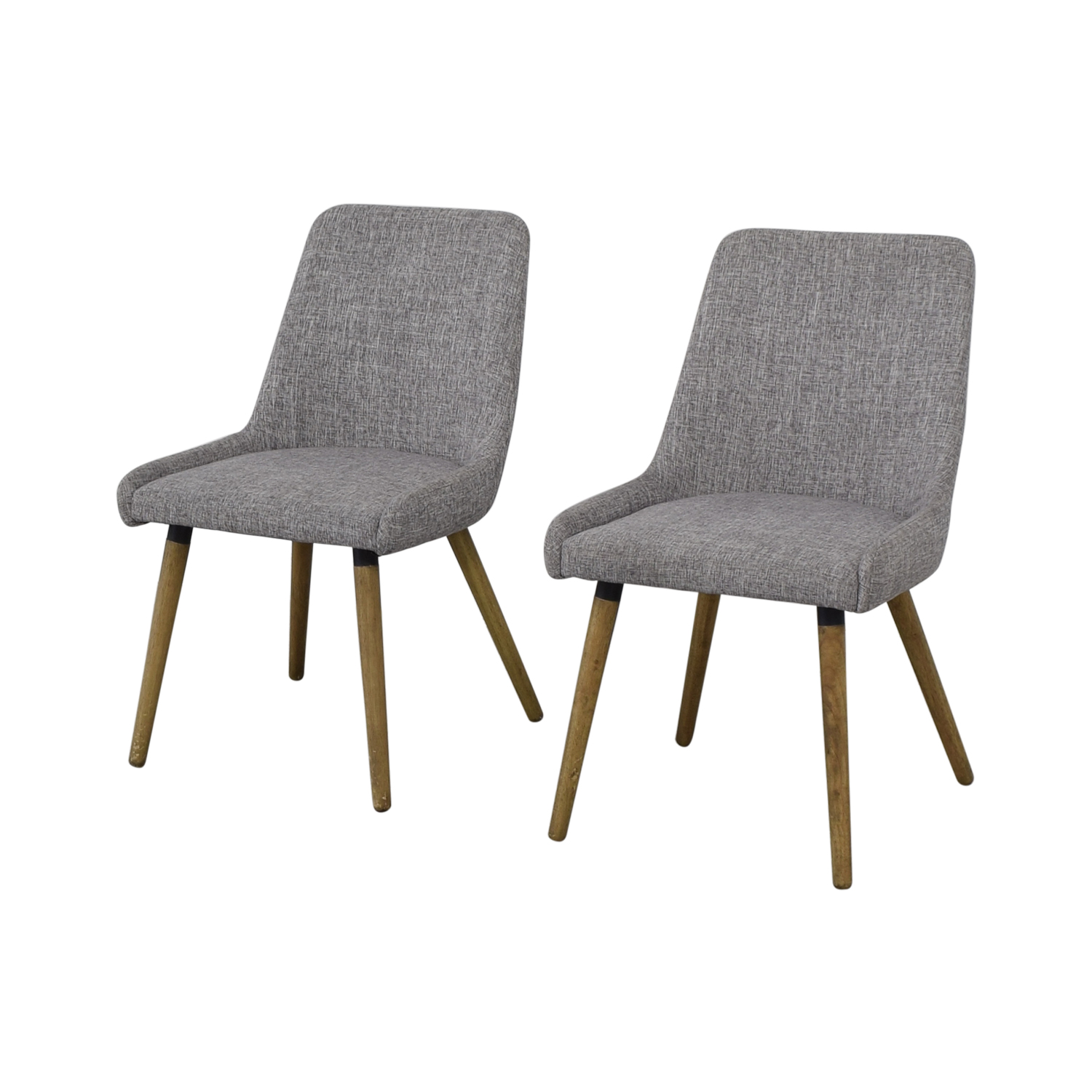 West Elm Mid-Century Upholstered Dining Chairs sale
