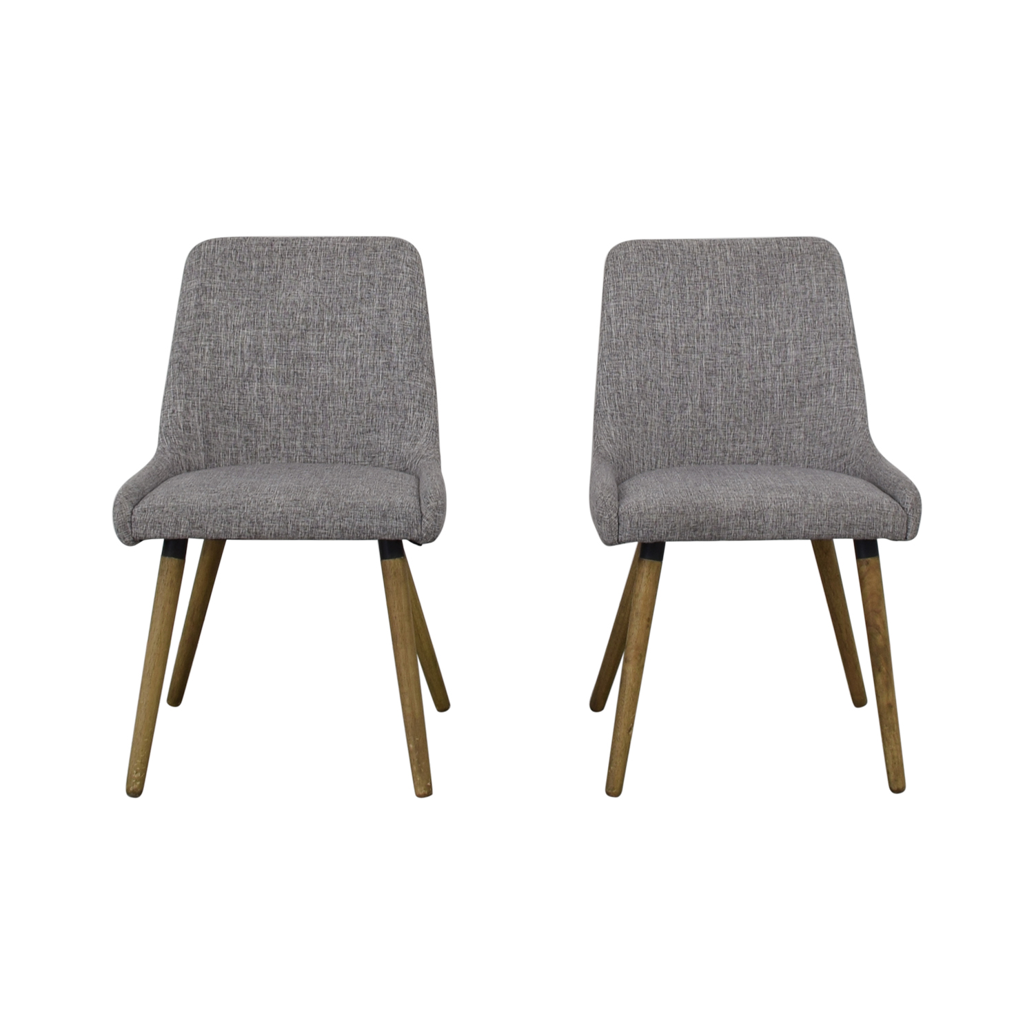 West Elm Mid-Century Upholstered Dining Chairs West Elm