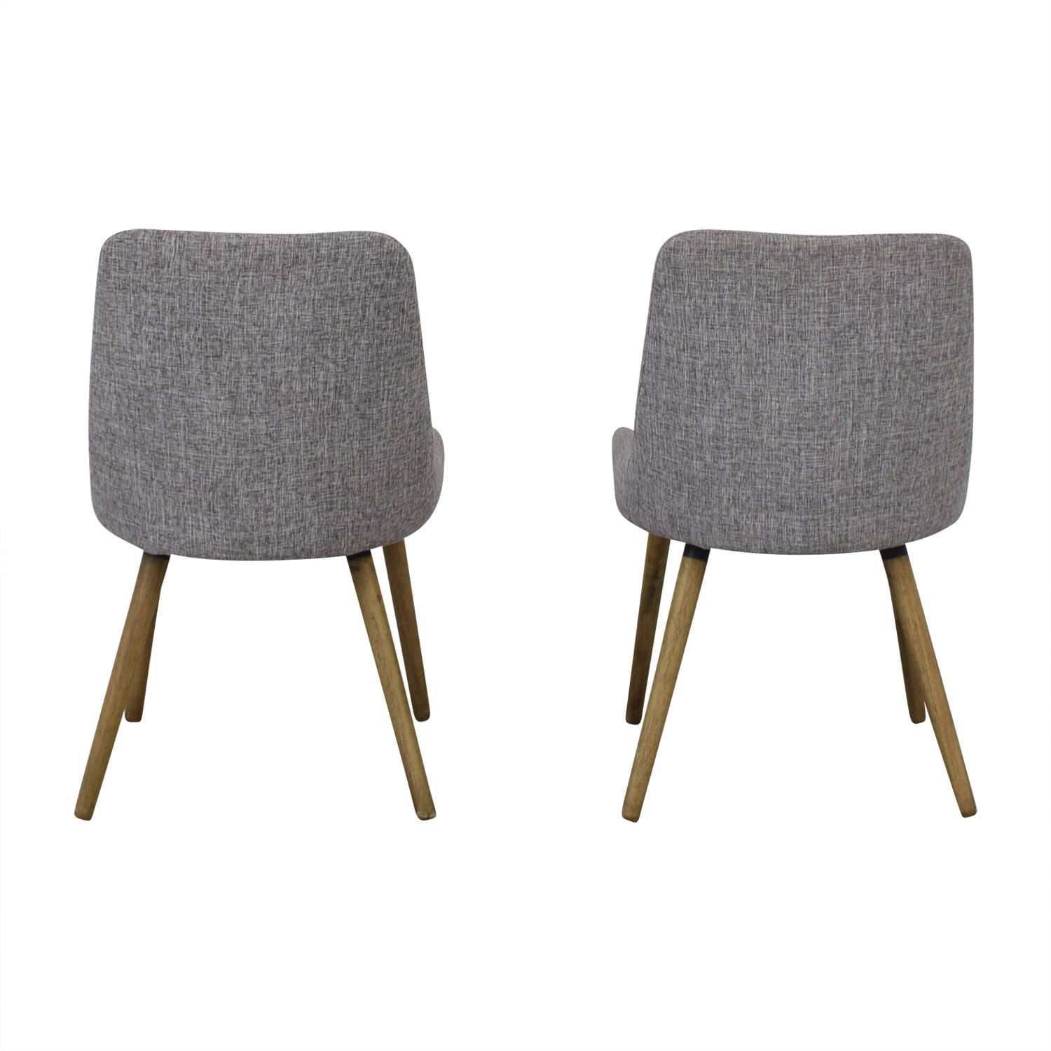 West Elm West Elm Mid-Century Upholstered Dining Chairs Grey
