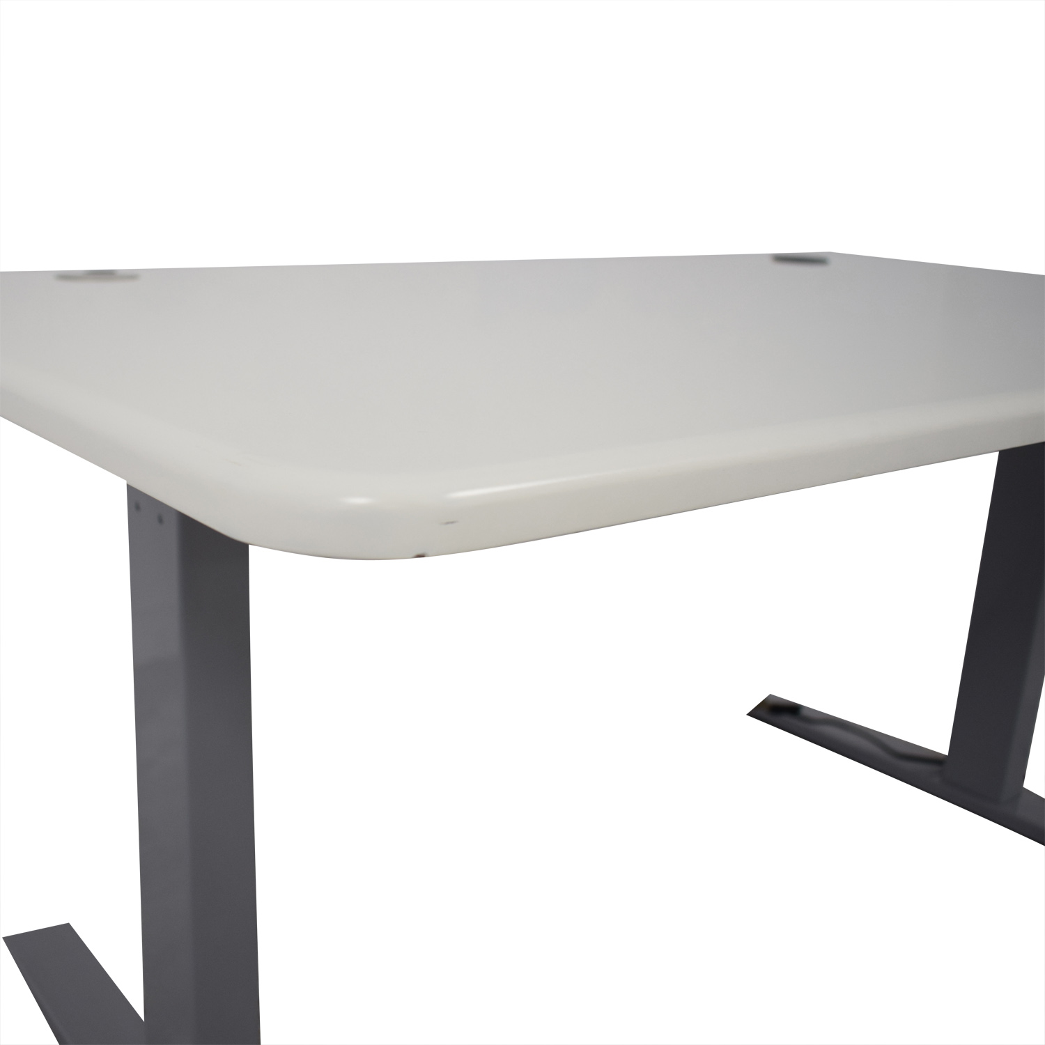Poppin Series L Adjustable Height Single Desk / Tables