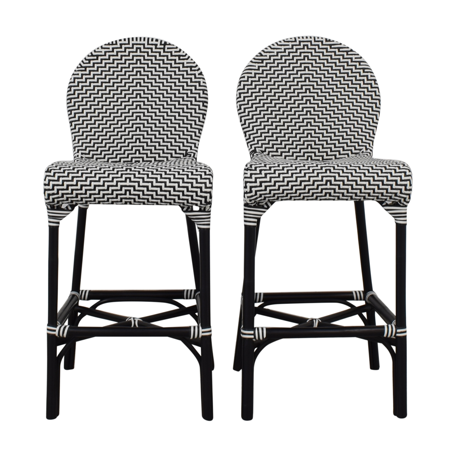 CB2 CB2 Indoor Outdoor Stools black & white