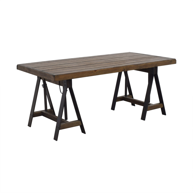Trent Austin Design Trent Austin Design Wood Drafting Desk dark brown & black