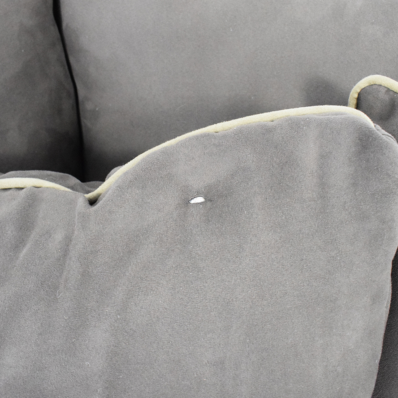 Raymour & Flanigan Raymour & Flanigan Microfiber Sleeper Sofa Brown