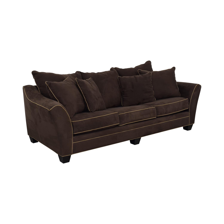 Raymour & Flanigan Microfiber Sleeper Sofa sale
