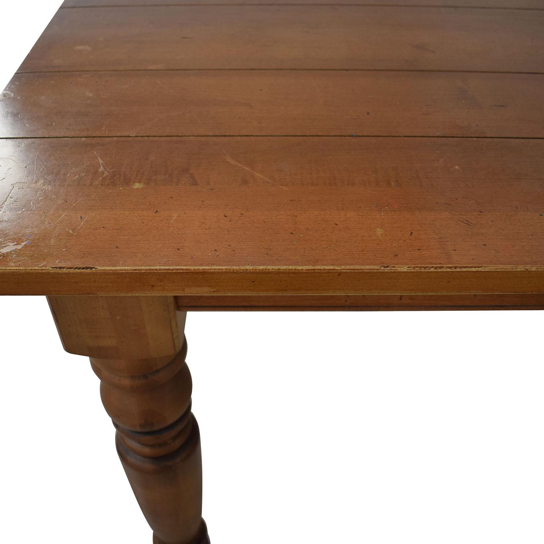 buy Ethan Allen Miller Wood Dining Table Ethan Allen