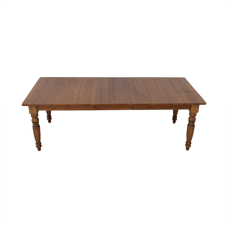 buy Ethan Allen Miller Wood Dining Table Ethan Allen Tables