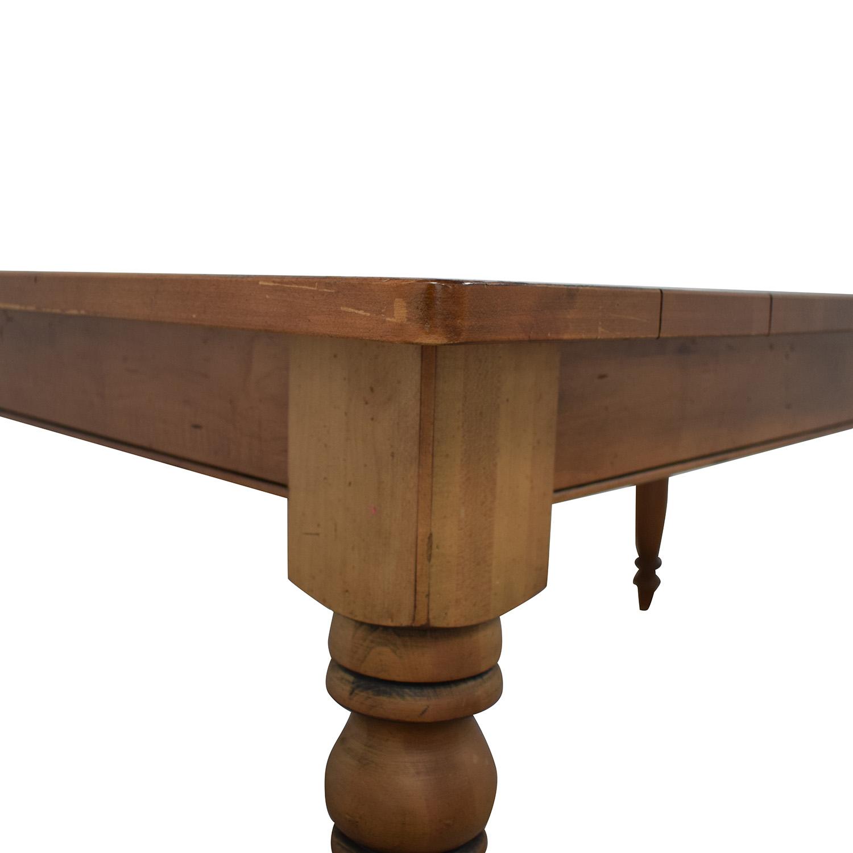 buy Ethan Allen Miller Wood Dining Table Ethan Allen Dinner Tables