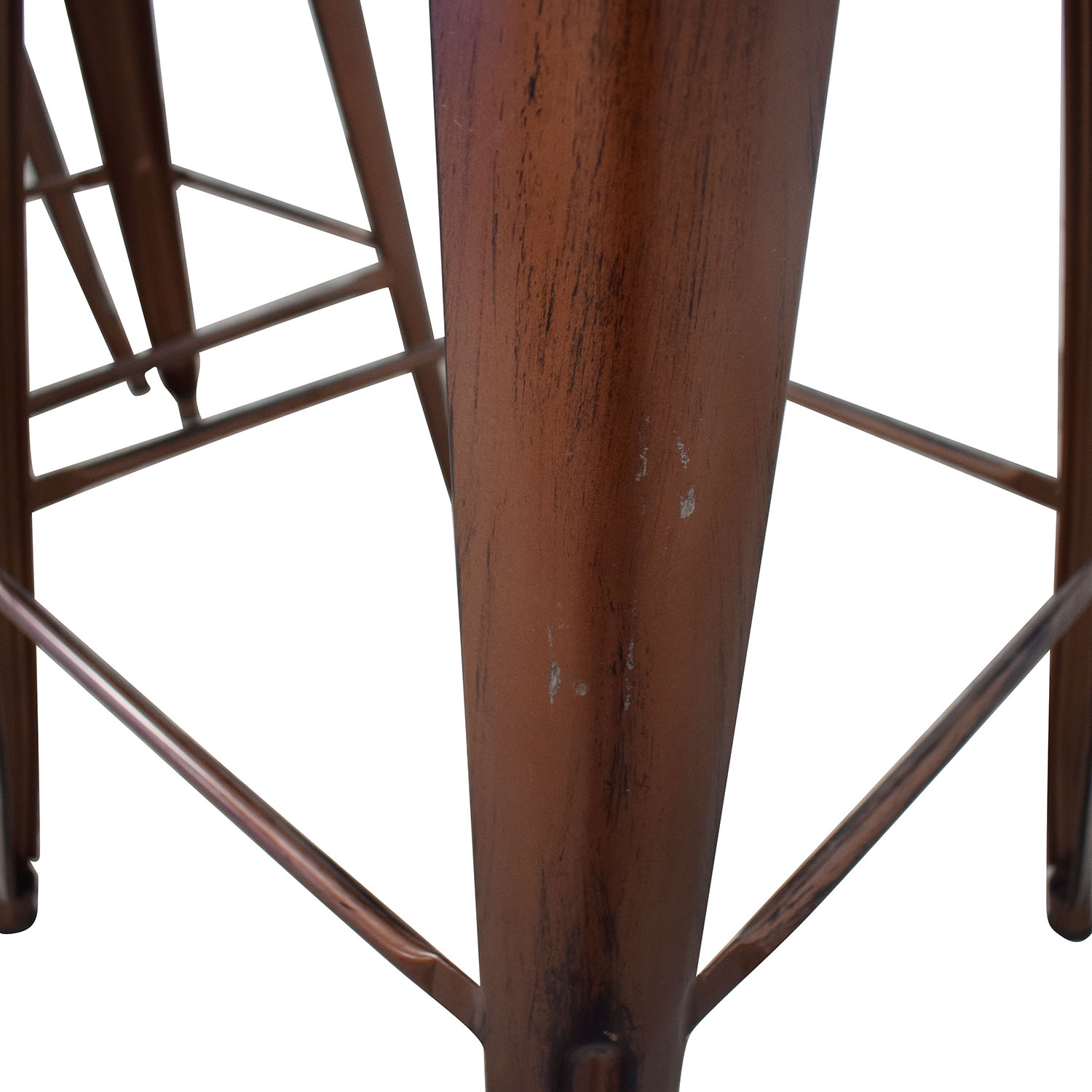 shop Overstock Tabouret Wood Seat Brushed Copper Bistro Bar Stools Overstock Chairs