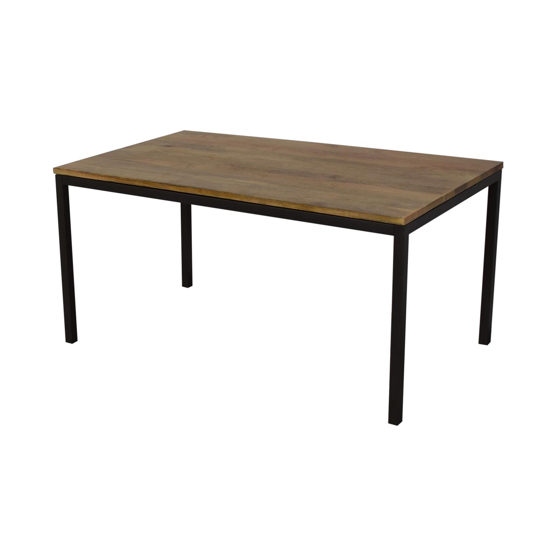 buy West Elm Box Frame Dining Table West Elm Tables