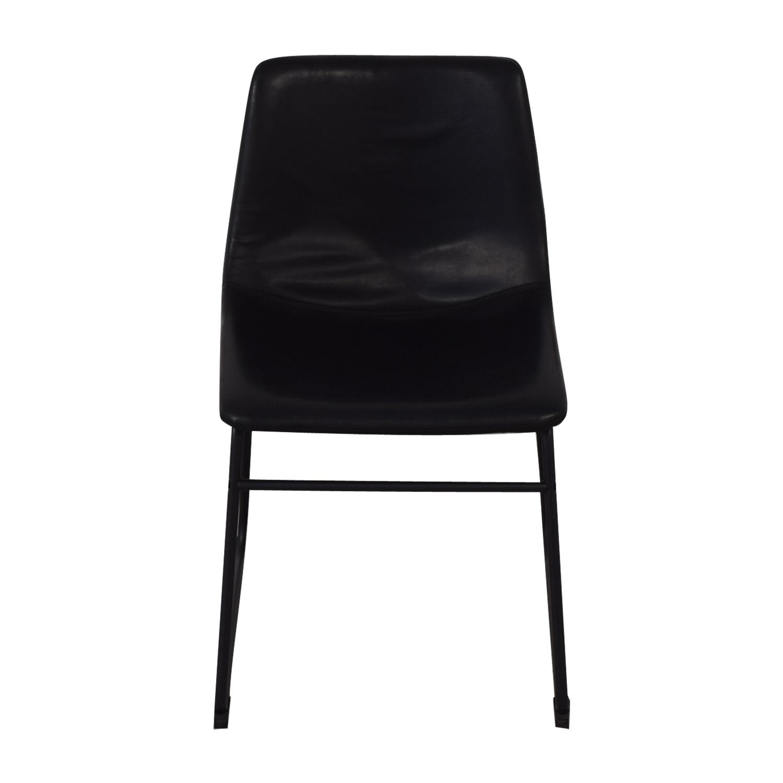 Walker Edison Walker Edison Industrial Faux Leather Dining Chair discount