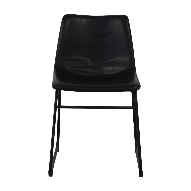Walker Edison Walker Edison Industrial Faux Leather Dining Chair used