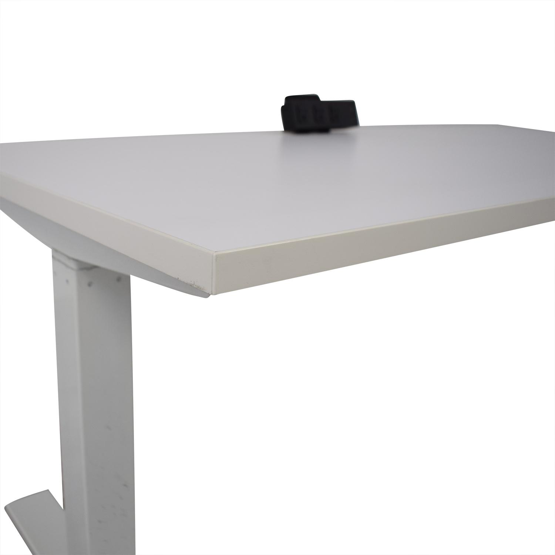buy Poppin Series L Adjustable Height Single Desk Poppin Home Office Desks
