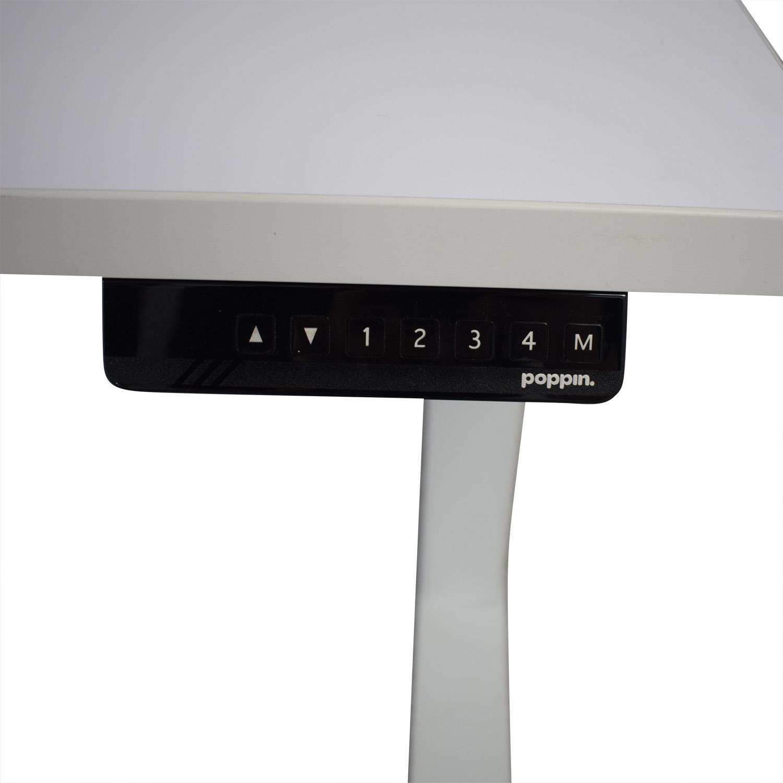 Poppin Series L Adjustable Height Single Desk sale