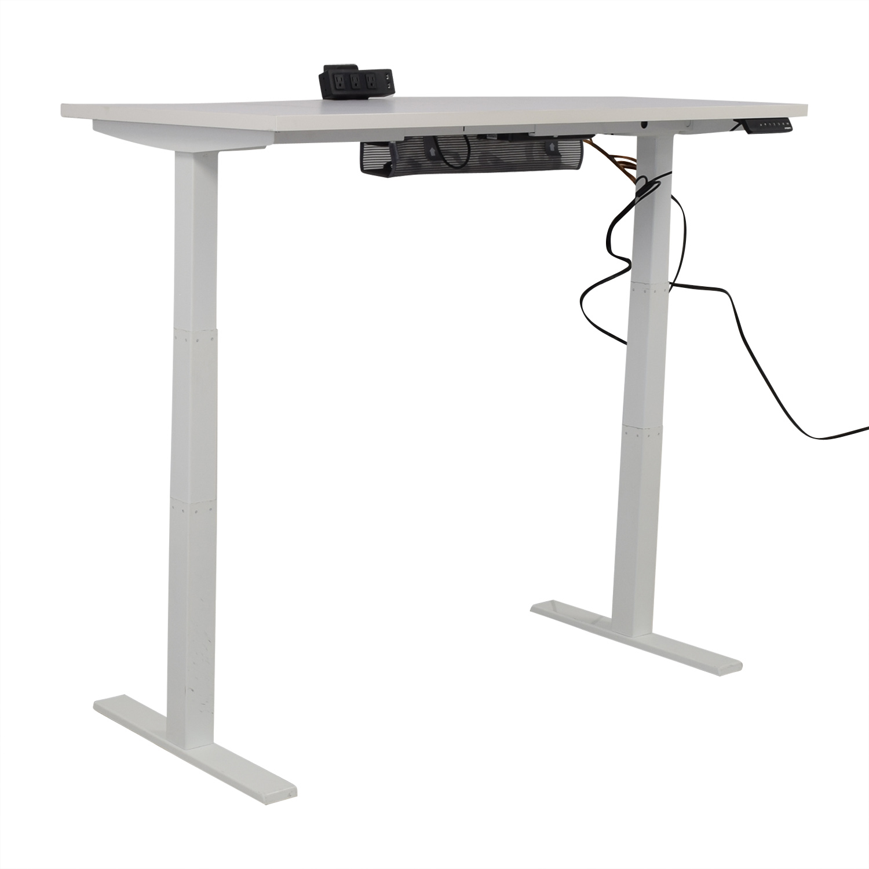 Poppin Poppin Series L Adjustable Height Single Desk nj