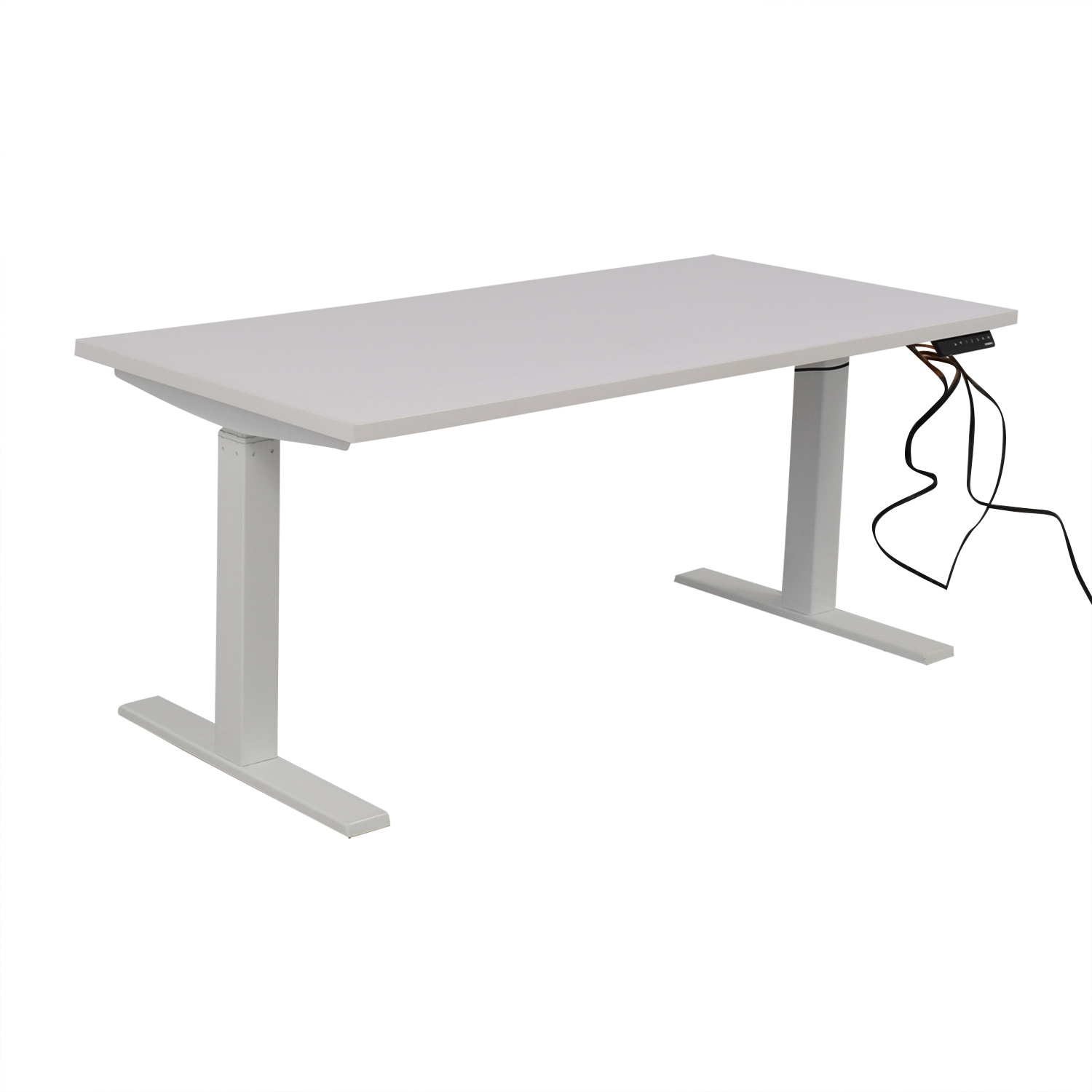 shop Poppin Series L Adjustable Height Single Desk Poppin Tables