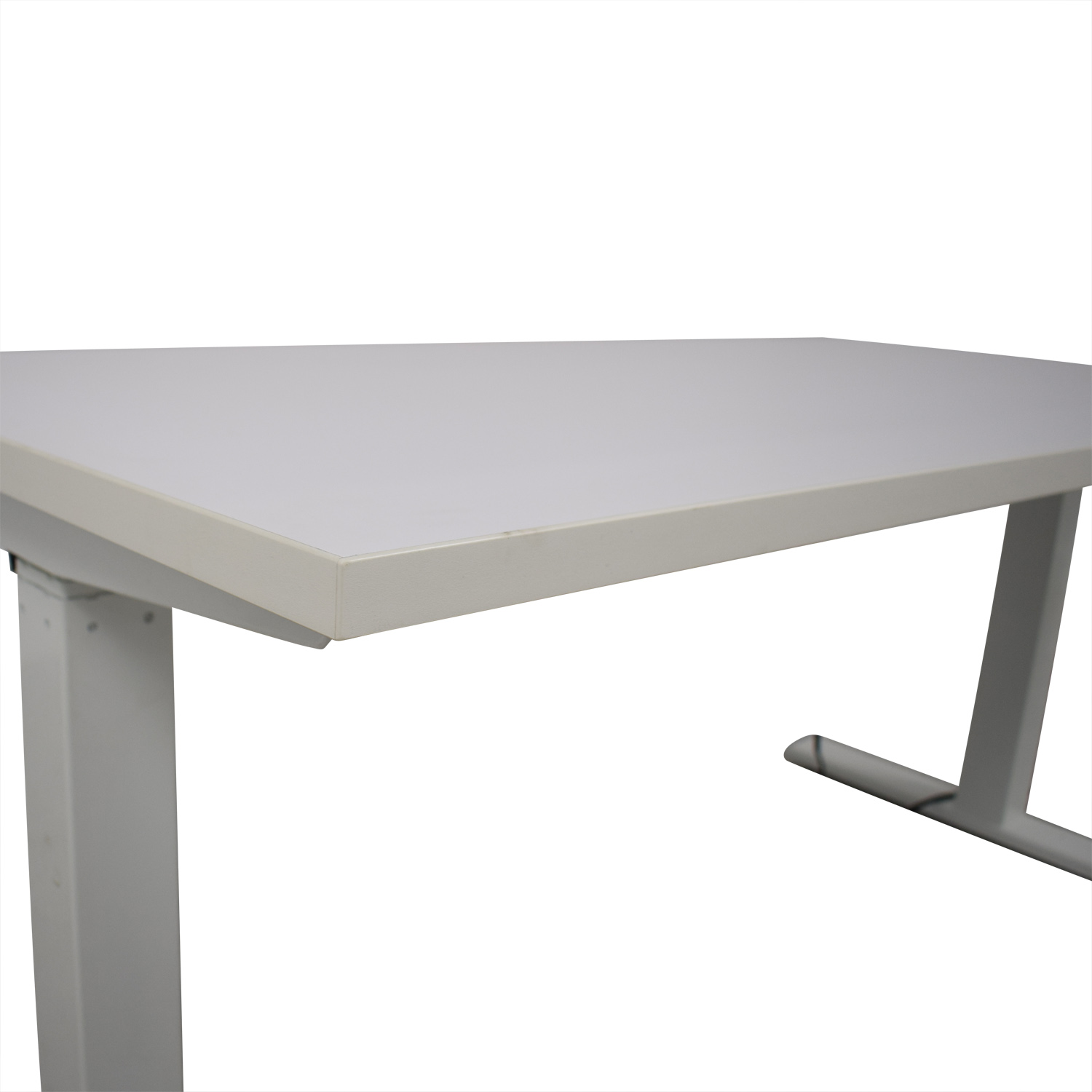 Poppin Poppin Series L Adjustable Height Single Desk white