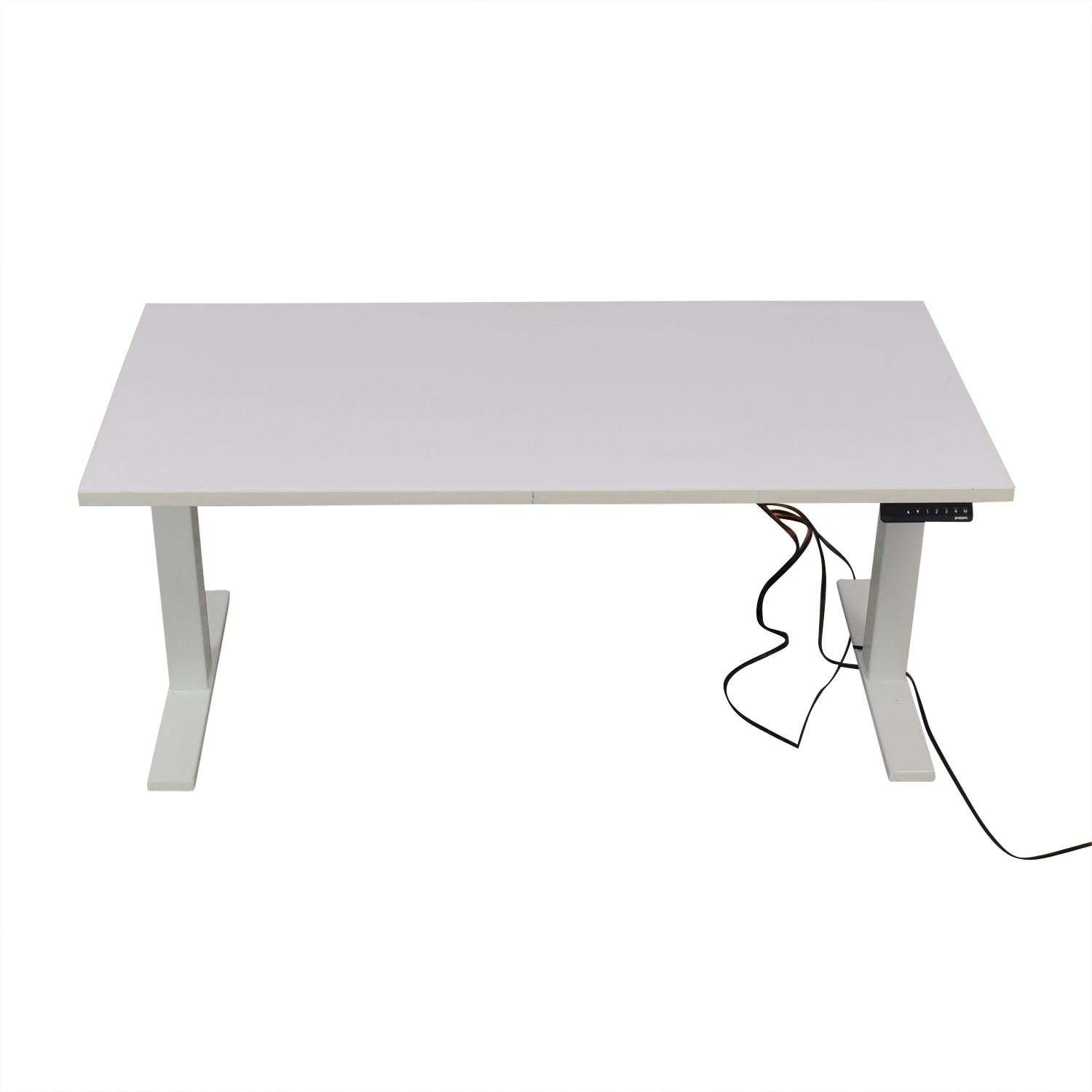 shop Poppin Series L Adjustable Height Single Desk Poppin