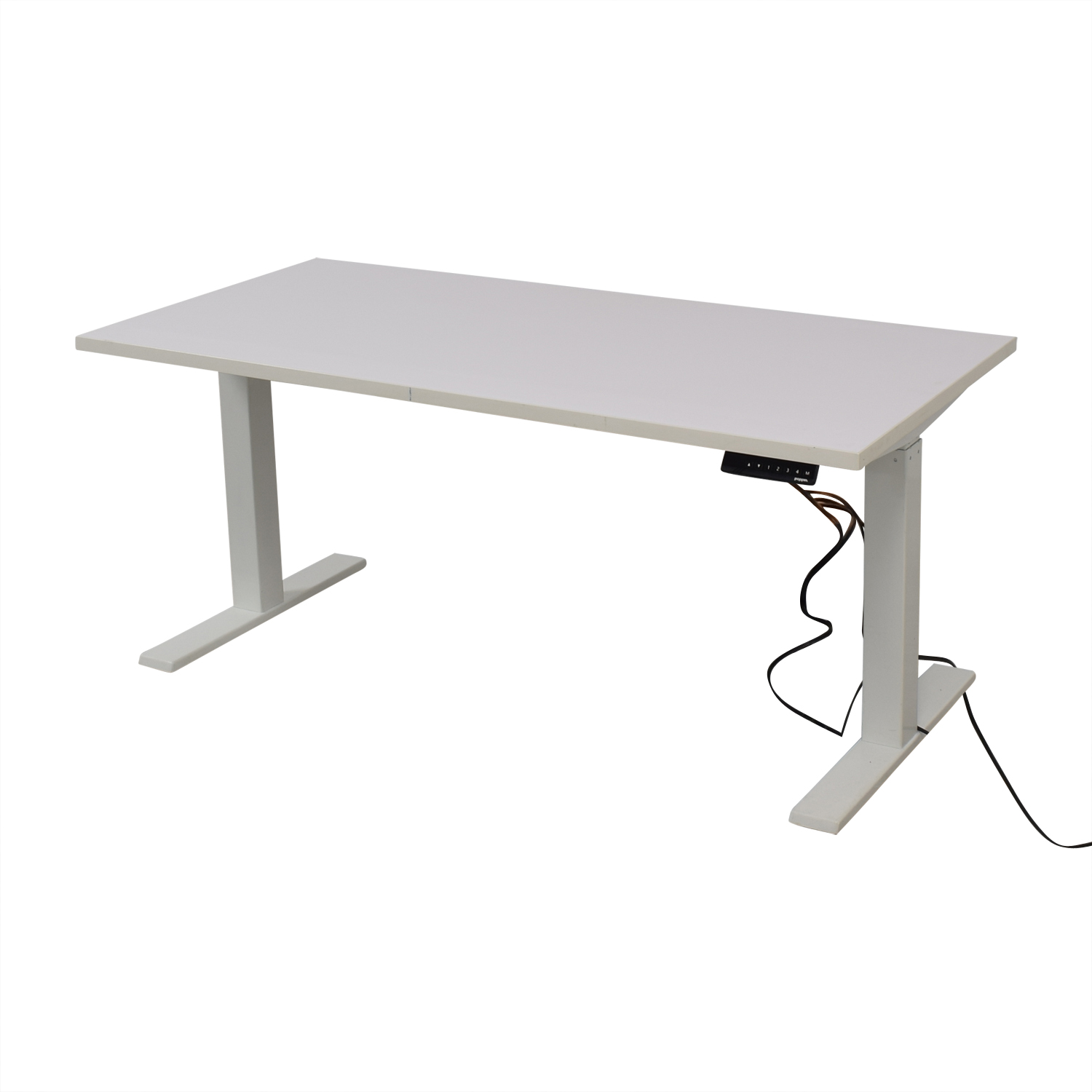 Poppin Poppin Series L Adjustable Height Single Desk Tables