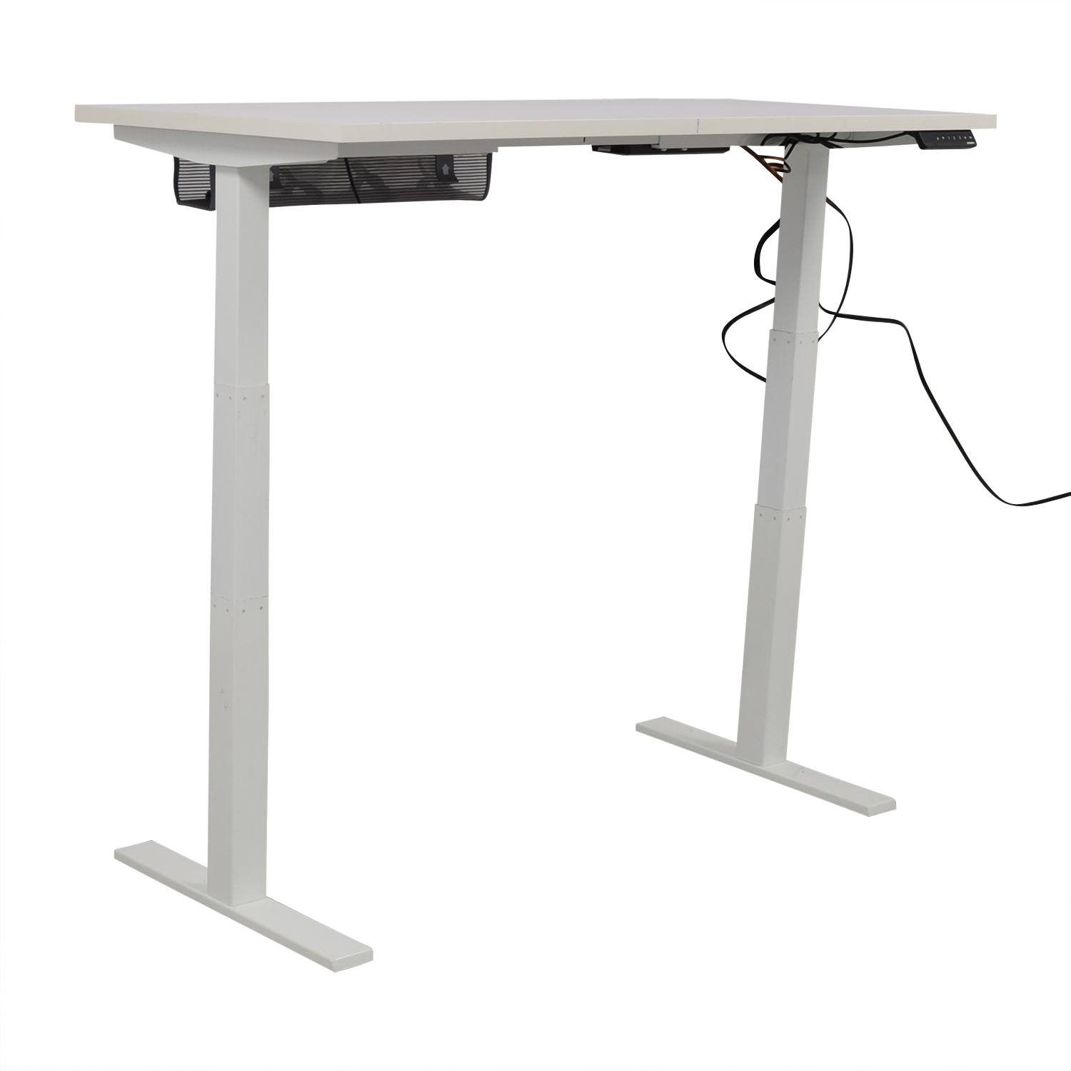 Poppin Poppin Series L Adjustable Height Single Desk Home Office Desks