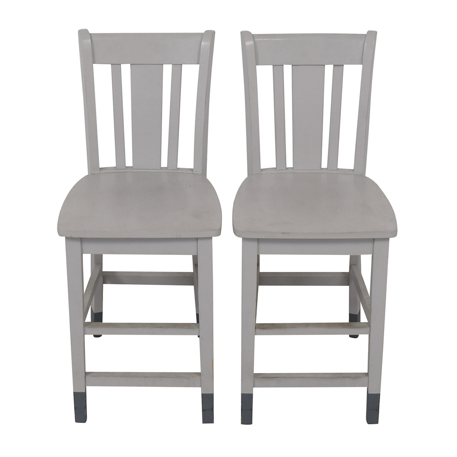 Awe Inspiring 75 Off Grey Wood Counter Height Chairs Chairs Andrewgaddart Wooden Chair Designs For Living Room Andrewgaddartcom