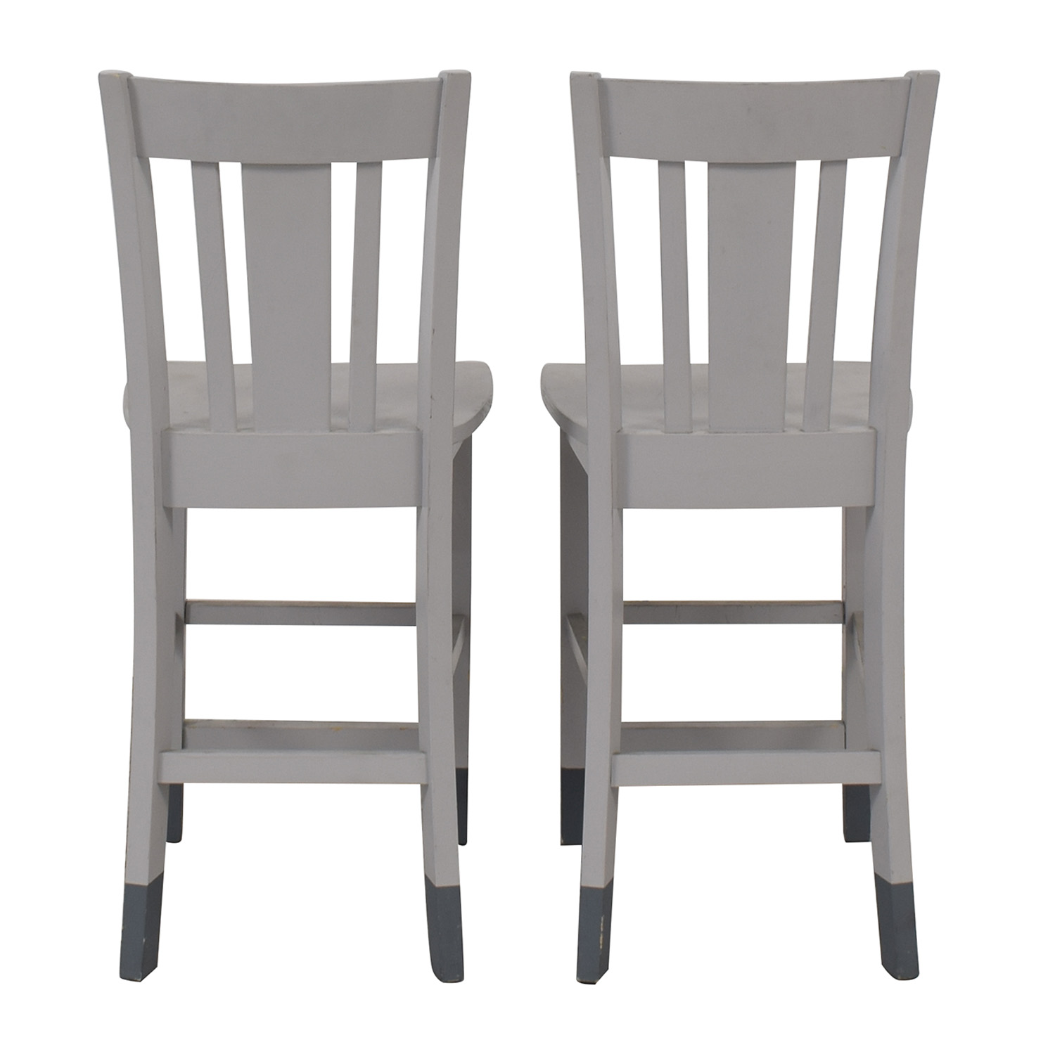 Grey Wood Counter-Height Chairs used