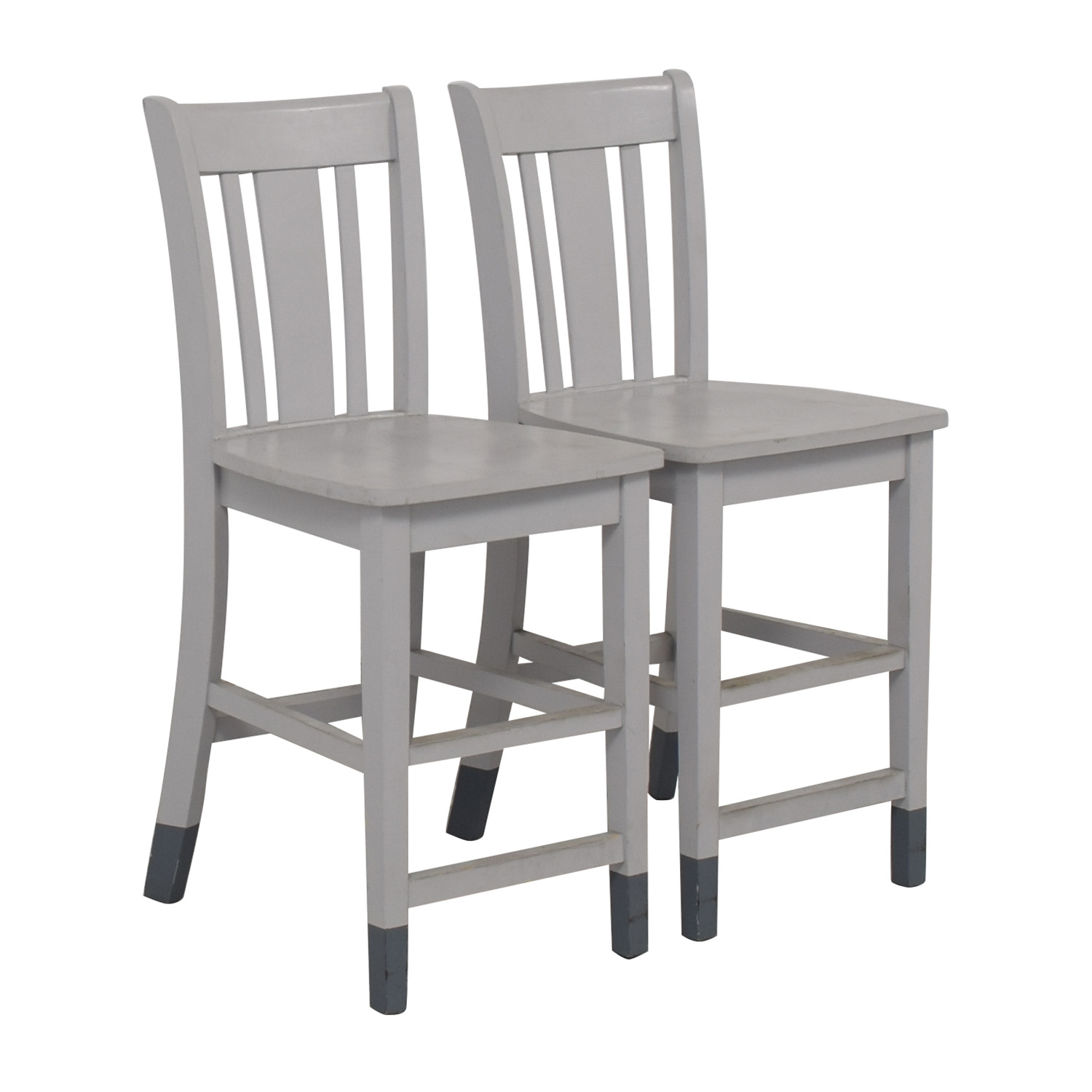 Grey Wood Counter-Height Chairs / Dining Chairs