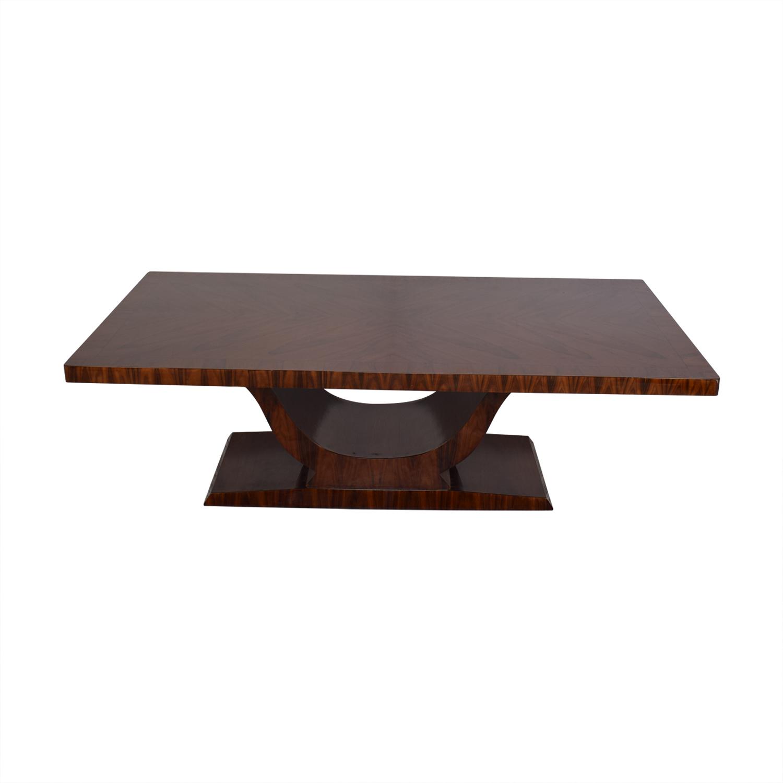 High Gloss Art Deco Style Table Dinner Tables