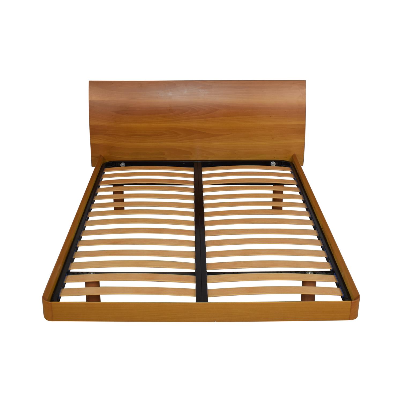 Curved Headboard Queen Platform Bed Beds