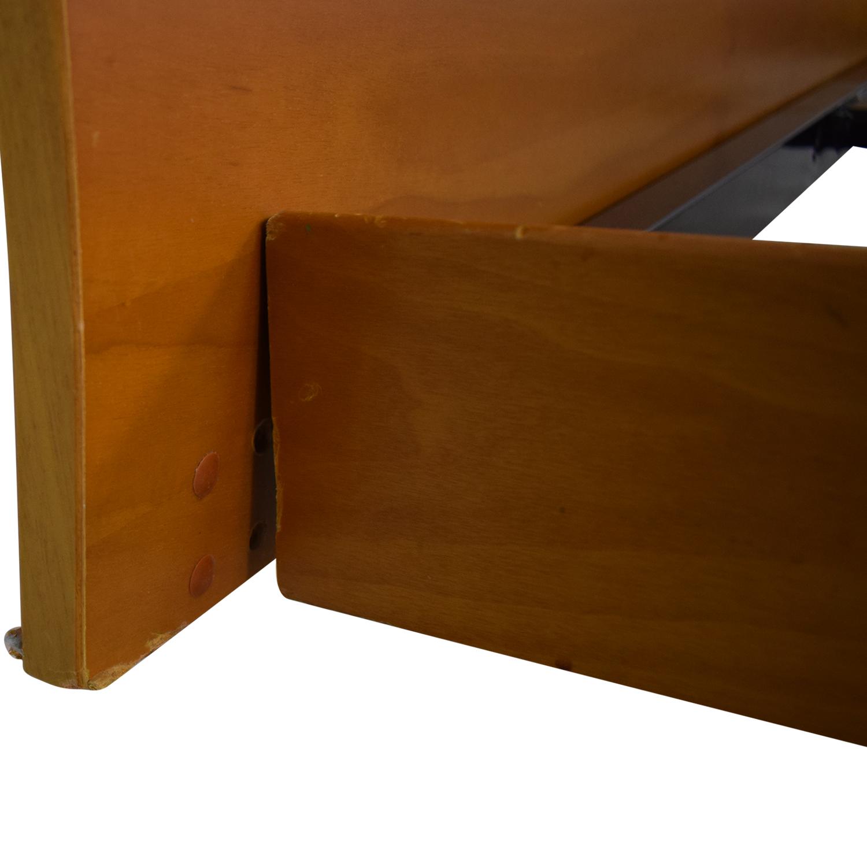 shop Curved Headboard Queen Platform Bed  Beds