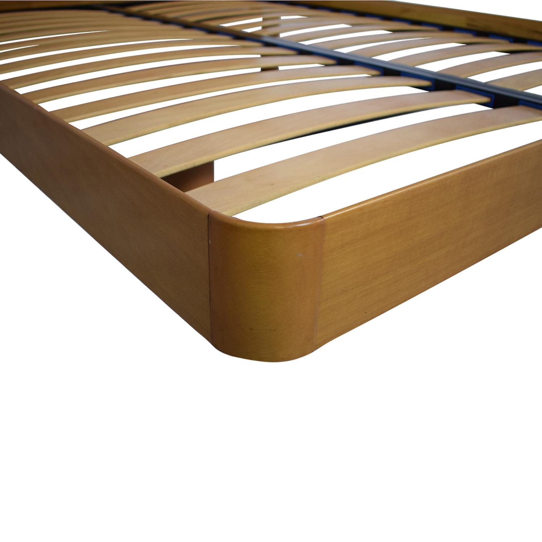 shop Curved Headboard Queen Platform Bed
