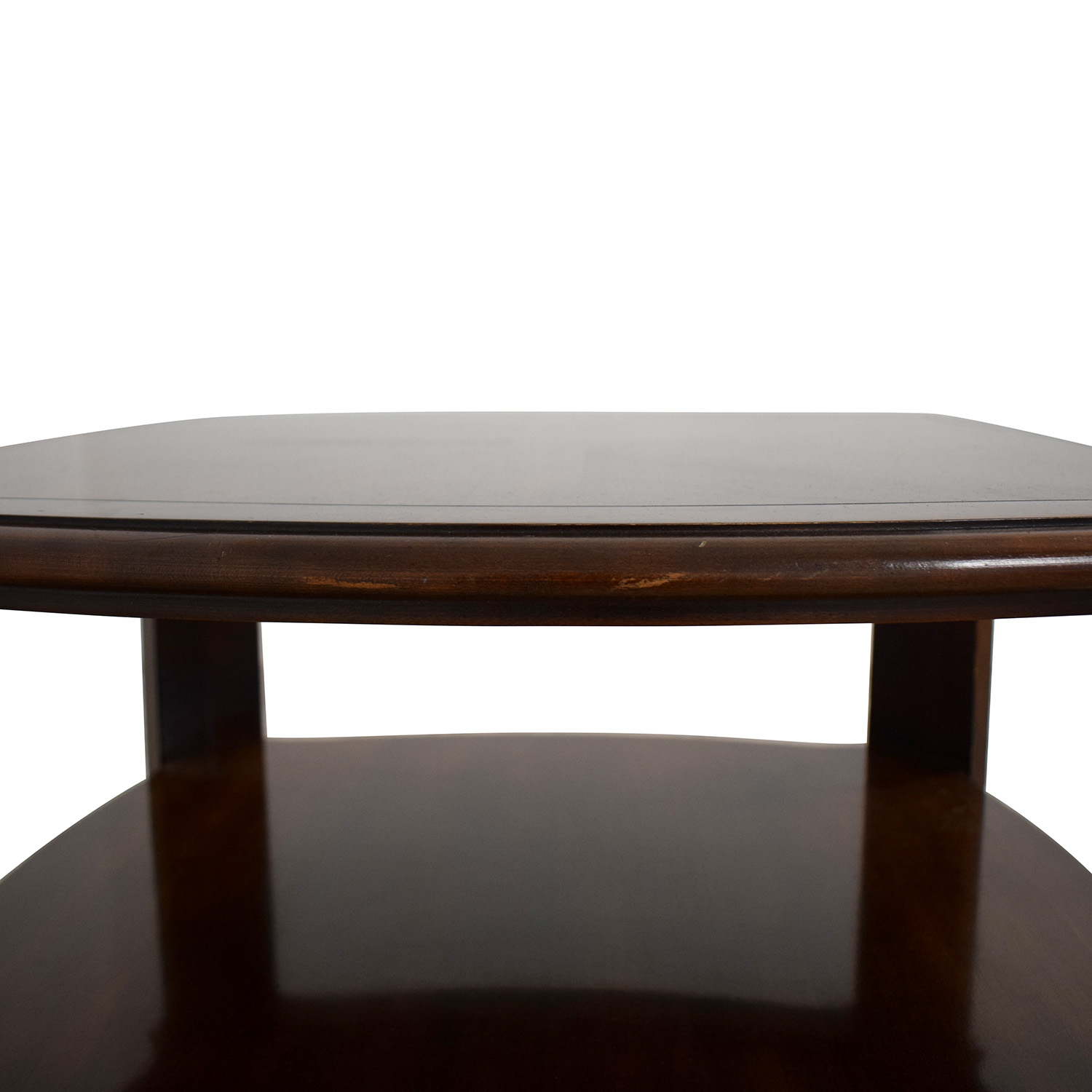Three Level End Table dark brown