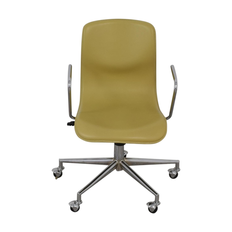 CB2 CB2 Kinsey Office Chair yellow