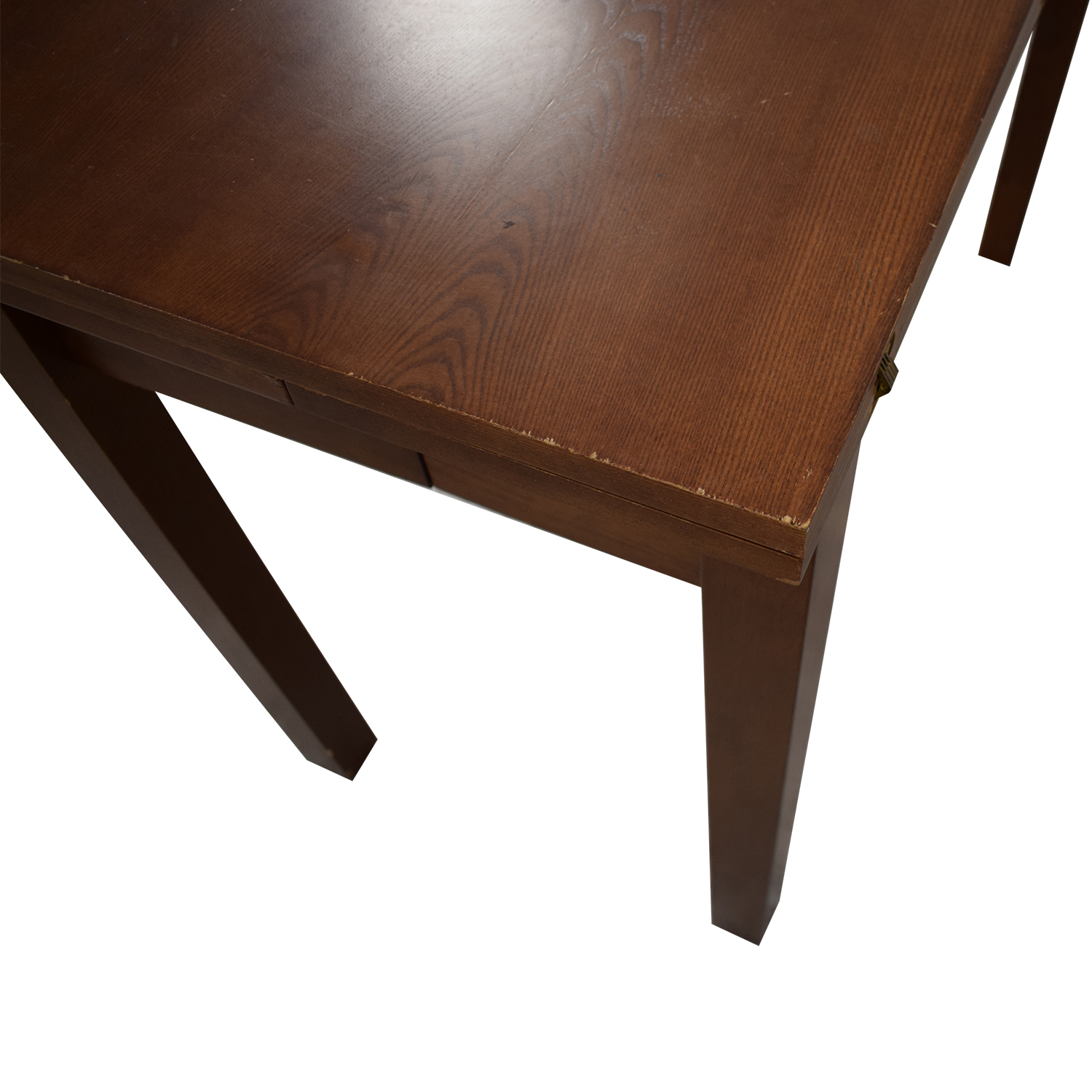 Extendable Table with Drawers brown