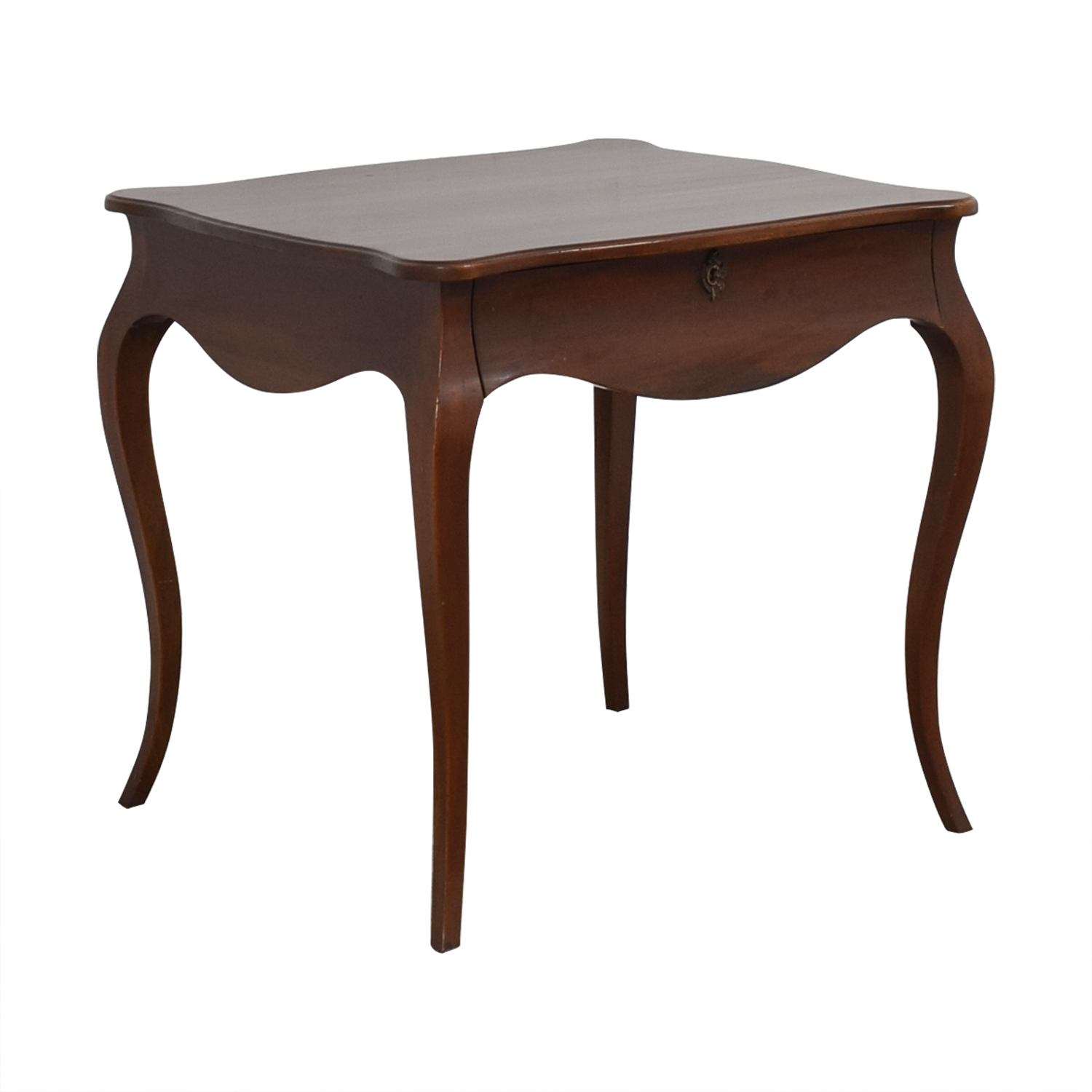 Curved Legs Side Table brown