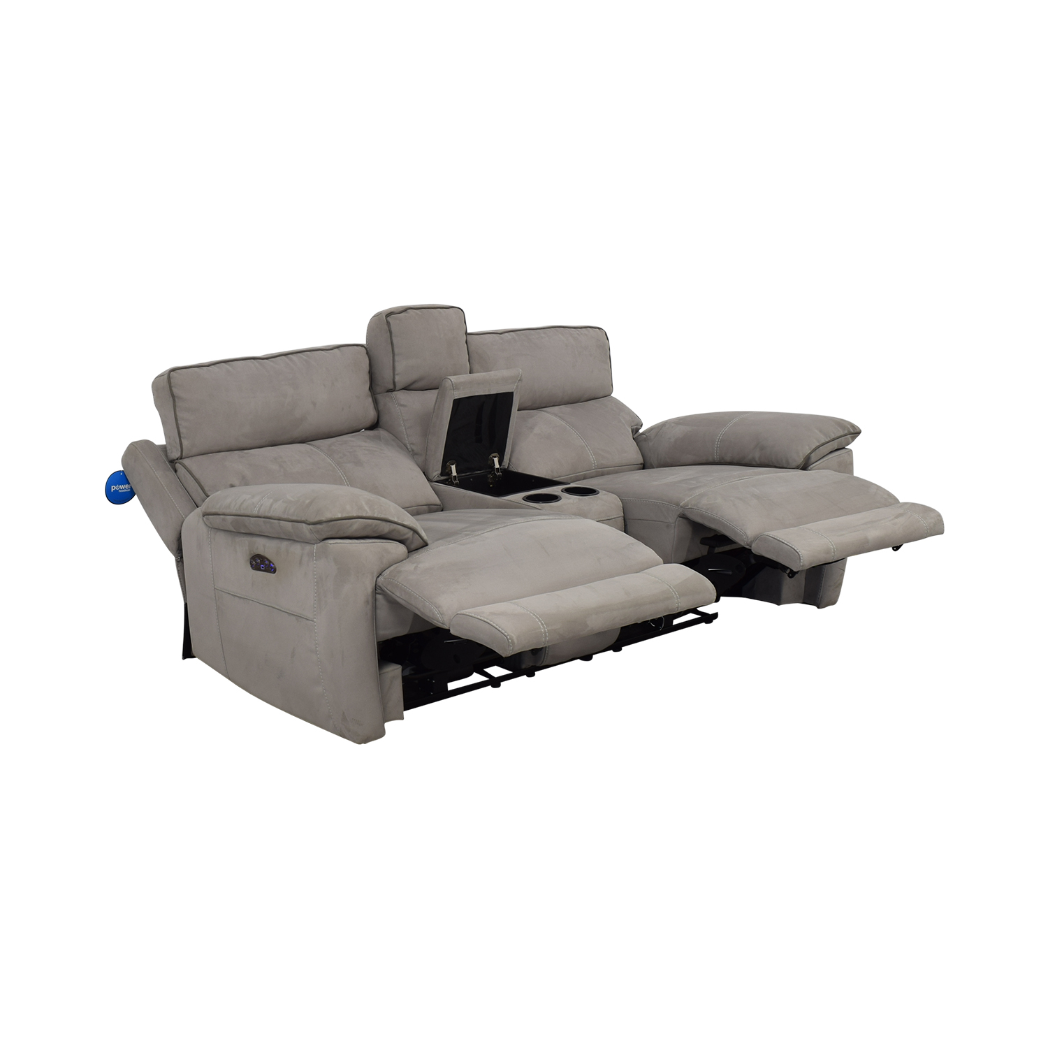 Power Reclining Console Loveseat used