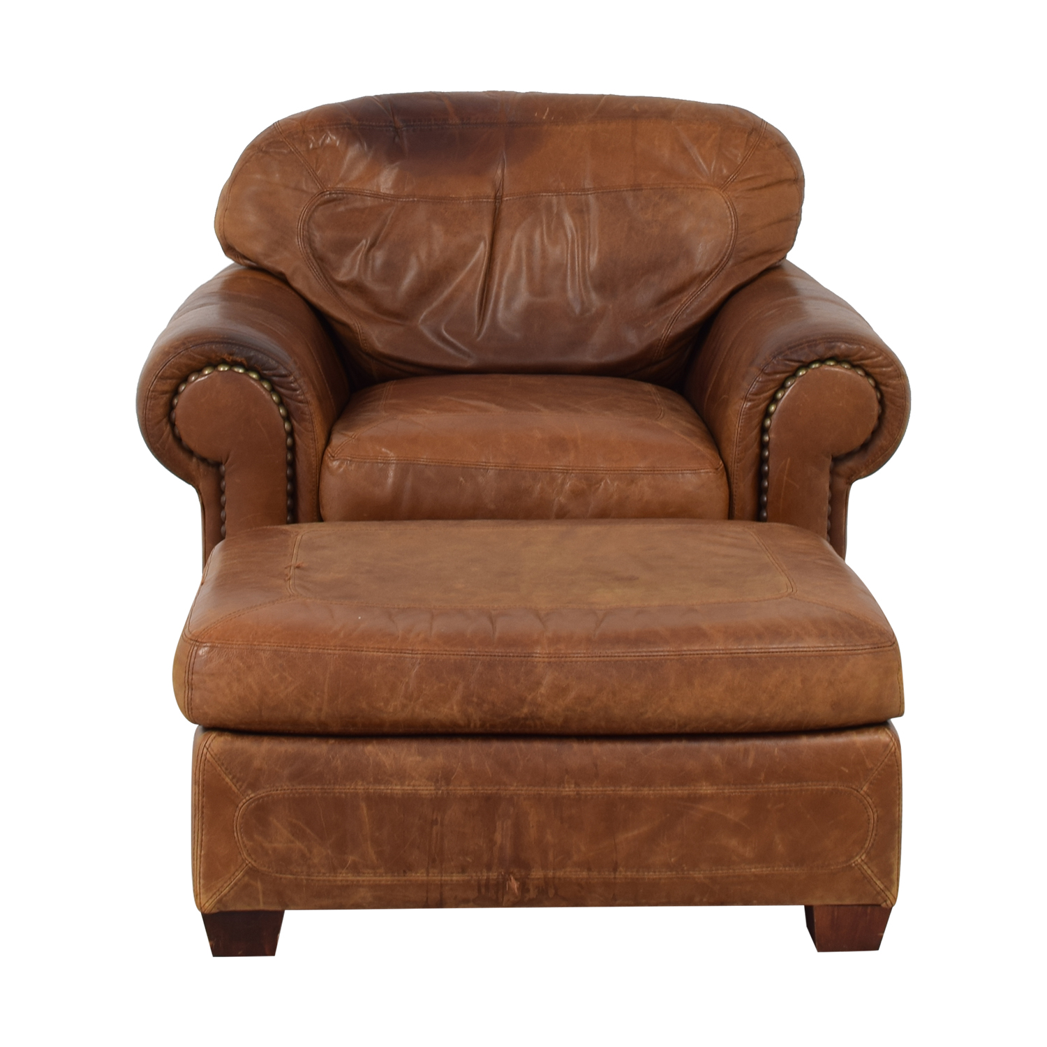 69 Off Stickley Furniture Stickley Cibola Brown Leather Armchair