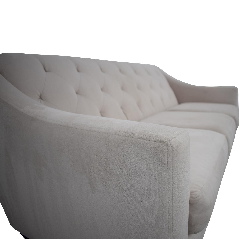 Macy's Macy's Chloe Velvet Tufted Sofa on sale