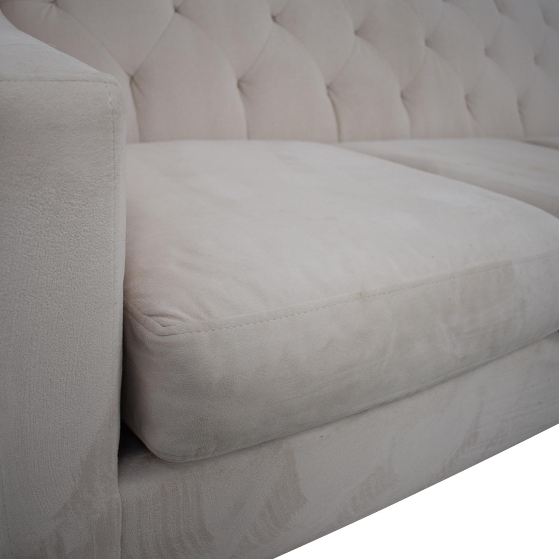 Macy's Macy's Chloe Velvet Tufted Sofa nyc