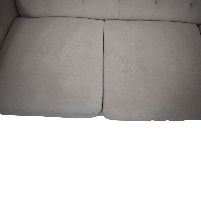 Macy's Macy's Chloe Velvet Tufted Sofa Classic Sofas