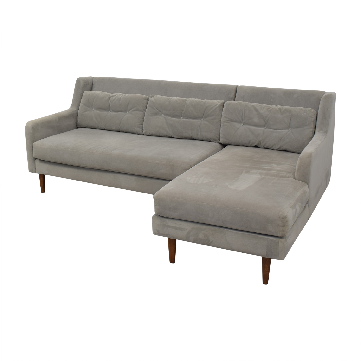 West Elm Crosby Mid-Century Sectional West Elm