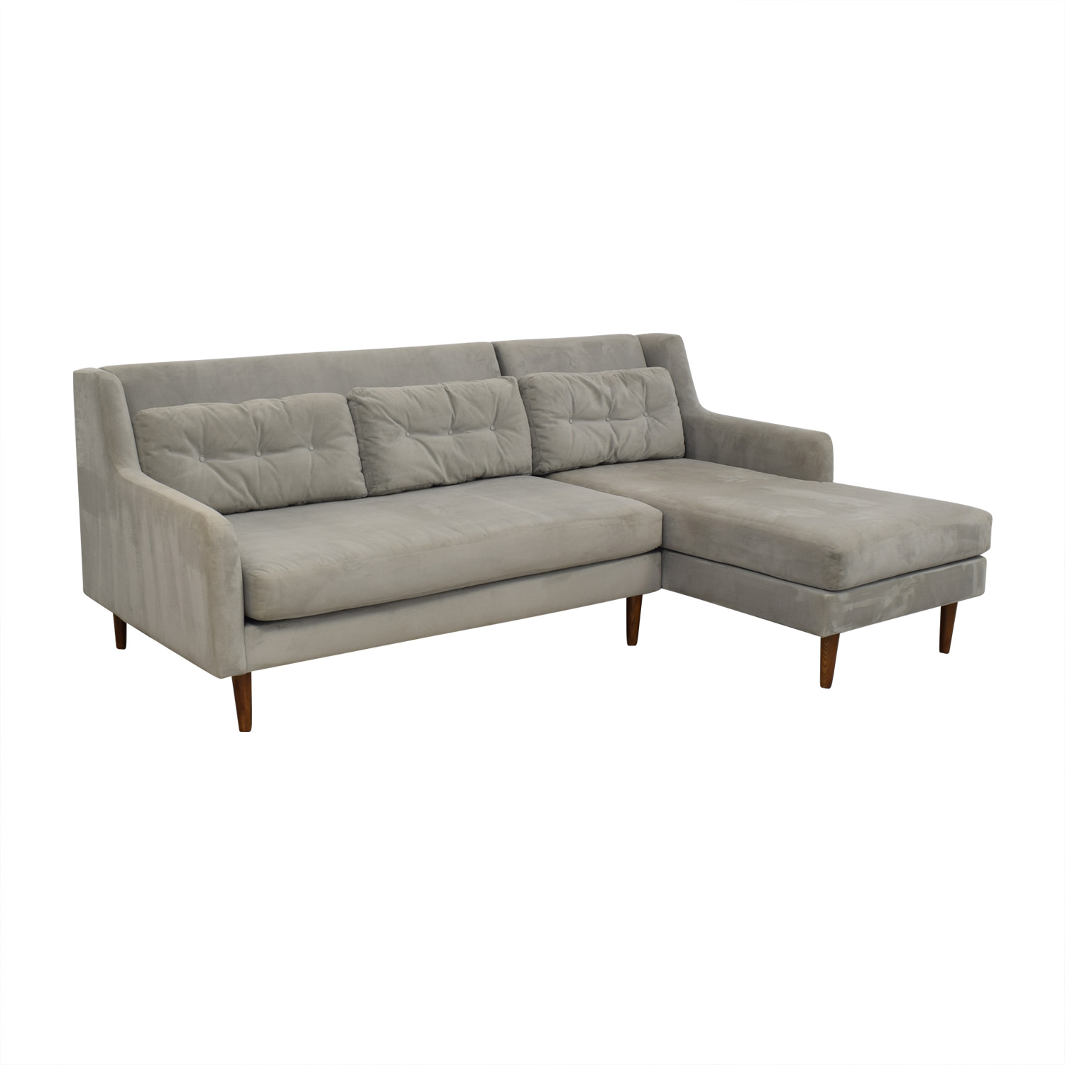West Elm Crosby Mid-Century Sectional sale