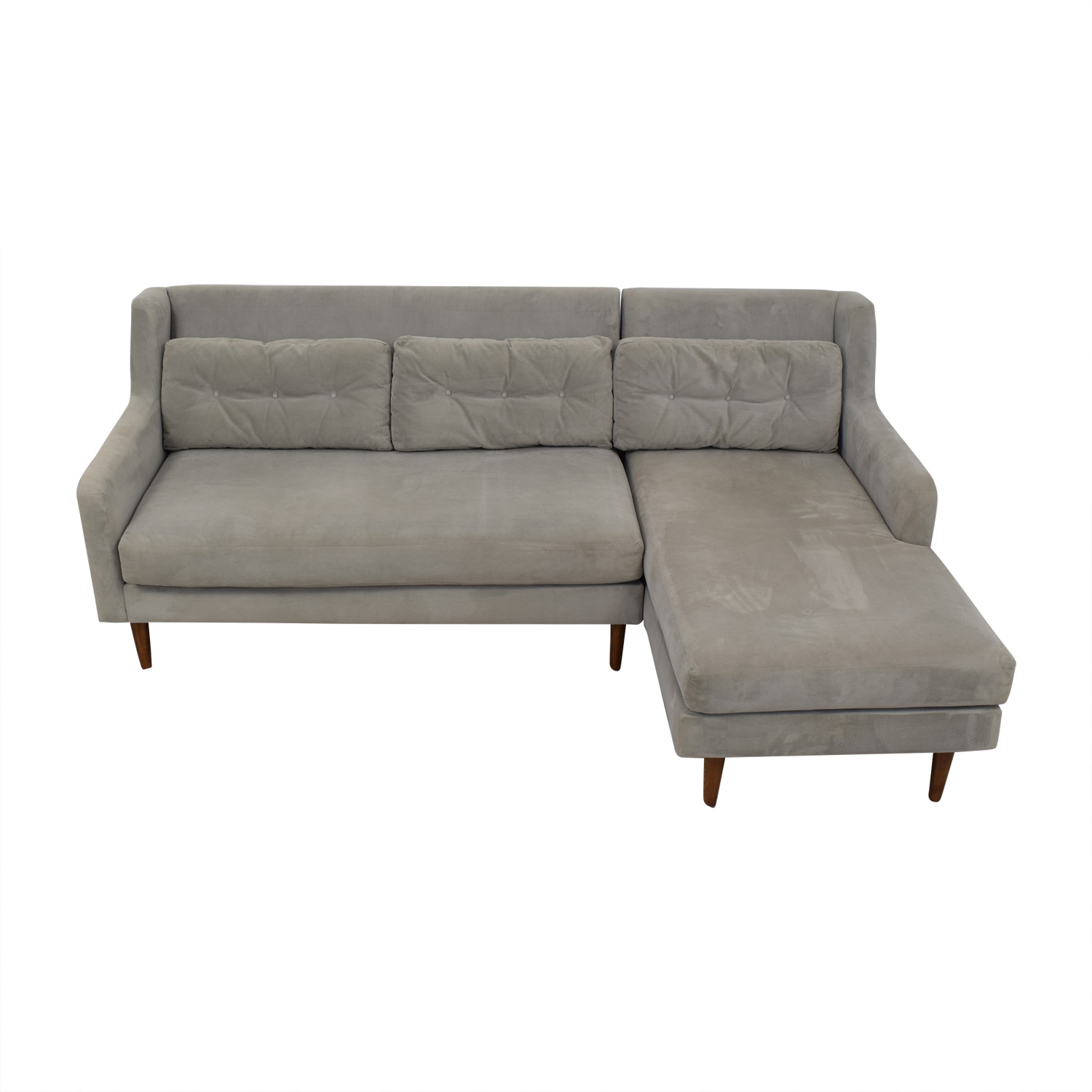 West Elm West Elm Crosby Mid-Century Sectional dimensions