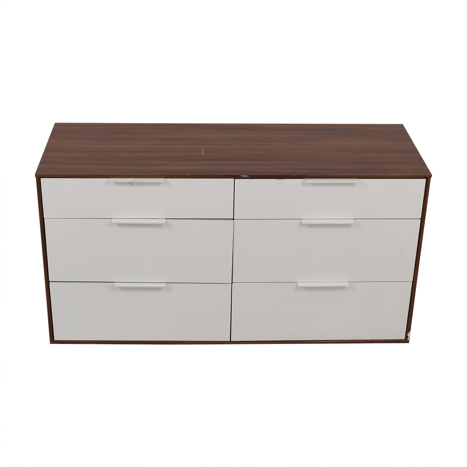 Aurelle Home Aurelle Home White Gloss Six-Drawer Dresser dimensions