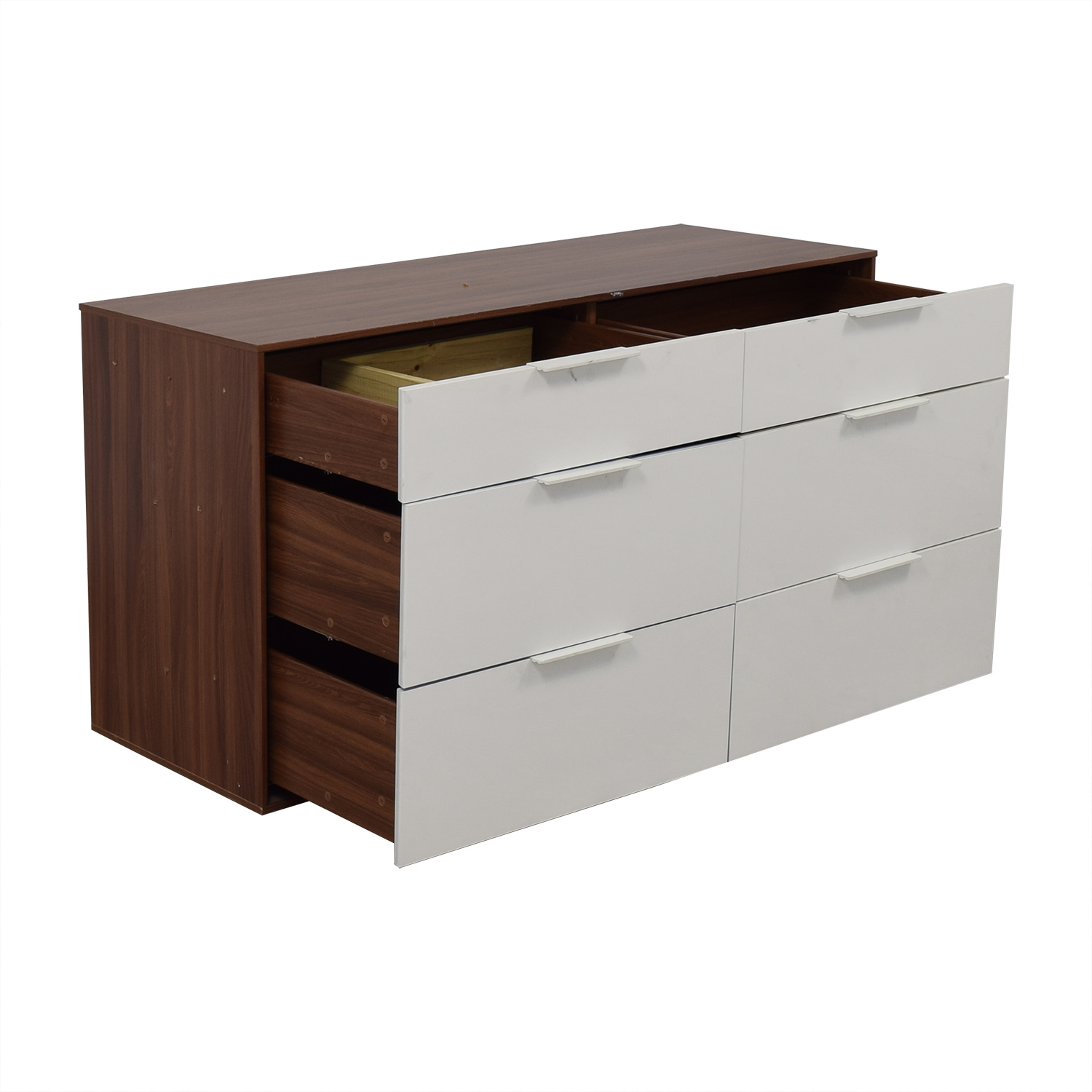 buy Aurelle Home White Gloss Six-Drawer Dresser Aurelle Home Dressers