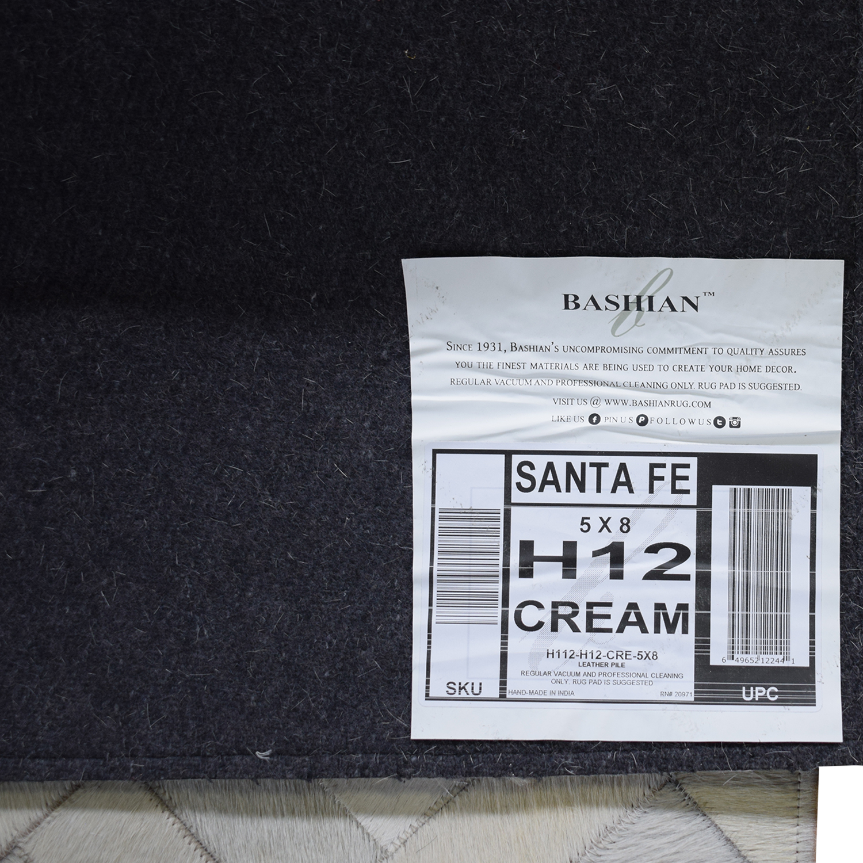 buy Bashian 5x8 Sante Fe Cream Rug Bashian Rugs Decor