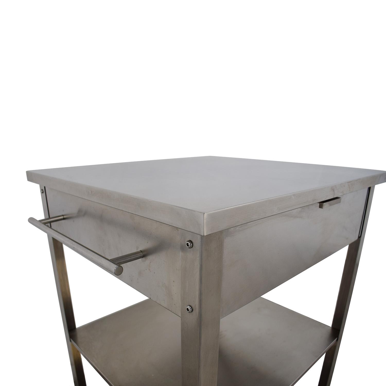 buy Crosley Furniture Stainless Steel Kitchen Cart Crosley Furniture